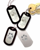 White Bronze Key Chain With Buddies Print And Engraving