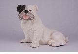 White Bulldog Hollow Figurine Pet Cremation Urn - 2725