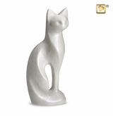 White Cat Pet Cremation Urn