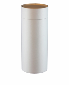 White Eco Friendly Cremation Urn Scattering Tube in 6 sizes