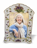 White Iris Cloisonne Picture Frame