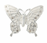 White Jeweled Butterfly Keepsake Cremation Urn