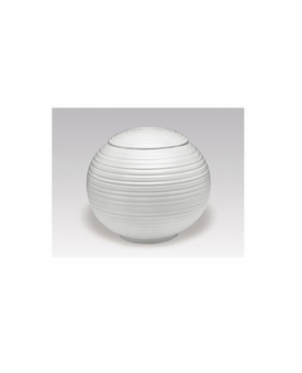 White Matte Sfera Porcelain Keepsake Cremation Urn