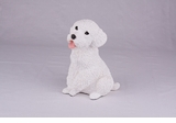 White Miniature Poodle Hollow Figurine Pet Cremation Urn - 2763