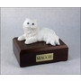 White Persian Cat Figurine Pet Cremation Urn - 1400