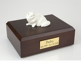 White Persian Cat Figurine Pet Cremation Urn - 1943