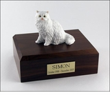 White Persian Cat Figurine Pet Cremation Urn - 309
