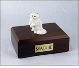 White Persian Cat Figurine Pet Cremation Urn - 611