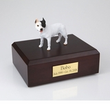 White Pit Bull Terrier Dog Figurine Pet Cremation Urn - 164