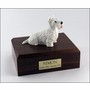 White Scottish Terrier Dog Figurine Pet Cremation Urn - 210