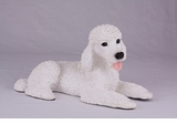 White Standard Poodle Hollow Figurine Pet Cremation Urn - 2767