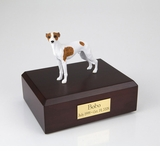 White With Spots Whippet Dog Figurine Pet Cremation Urn - 896