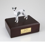 White With Spots Whippet Dog Figurine Pet Cremation Urn - 899