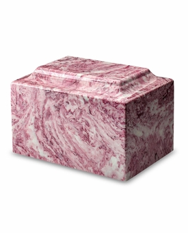 Wild Rose Classic Cultured Marble Cremation Urn Vault - Engravable