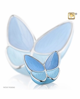 Wings of Hope Blue Butterfly Keepsake Cremation Urn