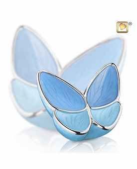 Wings of Hope Blue Butterfly Medium Cremation Urn