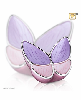 Wings of Hope Lavender Butterfly Medium Cremation Urn