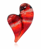 With All My Heart Cremains Encased in Glass Cremation Jewelry Pendant
