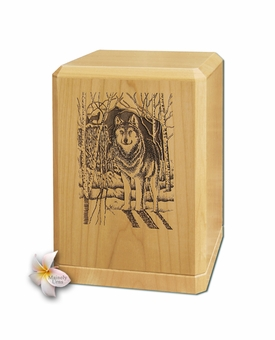 Wolf Classic Maple Wood Cremation Urn