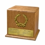 Wreath Cherry Wood Companion Cremation Urn