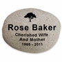 X-Large Memorial River Rock -Stone Garden  Marker - Custom Engraved