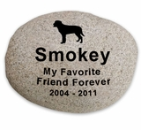 X-Large Pet Memorial River Rock -Stone Garden  Marker - Custom Engraved