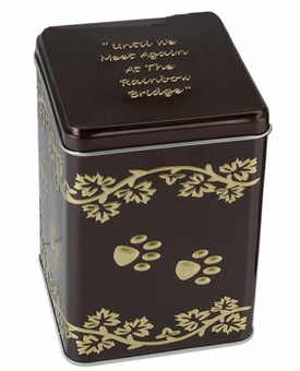 X-Large Rainbow Bridge Paw Print Economy Pet Cremation Urn