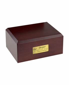 X-Large Traditional Walnut Wood Pet Cremation Urn