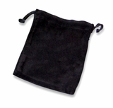Xlarge Black Velvet Cremains Bag For Ashes