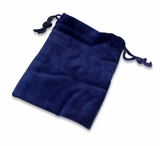 Xlarge Blue Velvet Cremains Bag For Ashes