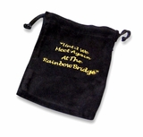 Xlarge Rainbow Bridge Black Velvet Pet Cremains Bag For Ashes