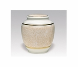 Yellow Floral Classica Porcelain Keepsake Cremation Urn