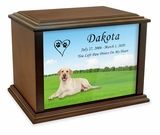 Yellow Labrador Retriever True Companion Dog Photo Pet Cremation Urn - 3 Sizes