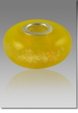 Yellow Perfect Memory Bead Cremains Encased in Glass Cremation Jewelry