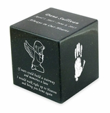 Your Child's Prints Orca Black Small Cube Infant Cremation Urn - Engravable
