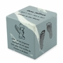 Your Child's Prints Wedgewood Blue Small Cube Infant Cremation Urn - Engravable