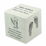 Your Child's Prints White Small Cube Infant Cremation Urn - Engravable