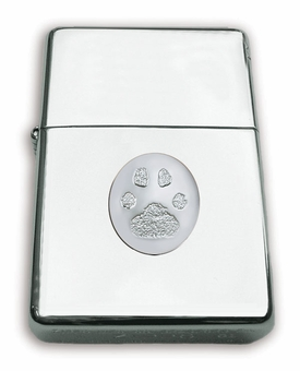 Zippo Lighter With Mounted Sterling Silver Standard Buddies