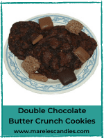 Double Chocolate Butter Crunch Cookies
