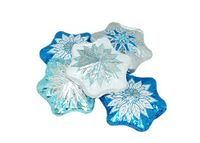 Milk Chocolate Foil Snowflake - 1/2 oz.