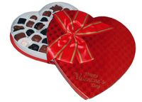 Red Foil Bow Heart Box - 1 lb.