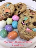 Spring Malted Milk Cookies