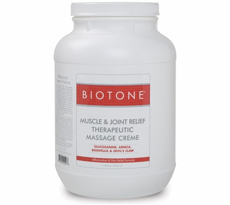 Biotone - Muscle & Joint Relief Therapeutic Massage Creme 1 Gallon