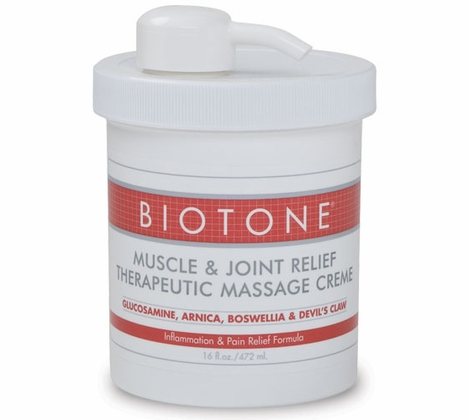 Biotone - Muscle & Joint Relief Therapeutic Massage Creme 16 oz