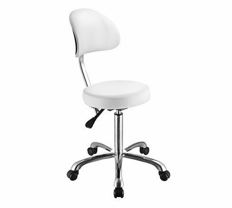 Button++ - Rolling Stool with Back Support 1023AB3 - out of stock