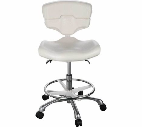 Comfort Soul - Luxe Provider Rolling Stool with Footrest