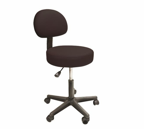 Custom Craftworks - Solutions Rolling Stool with Back Support