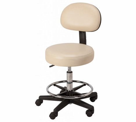 Equipro - Round Air-Lift Beauty Stool with Backrest EI-312