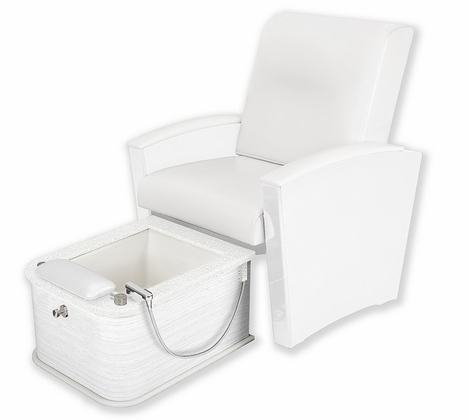 Living Earth Crafts - Mystia Pedicure Chair with Plumbed Footbath (Free Shipping)