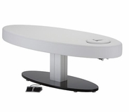 Living Earth Crafts - Oval Pedestal Flat Top Electric Lift Table (Free Shipping)